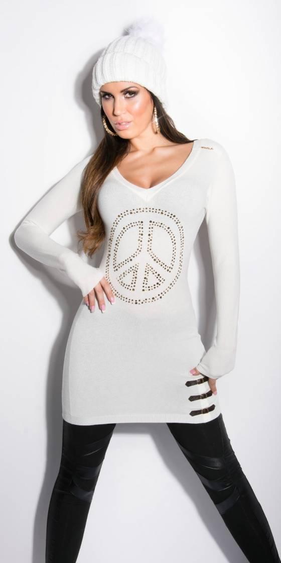 Robe tunique sexy fashion GWLADYS couleur blanc
