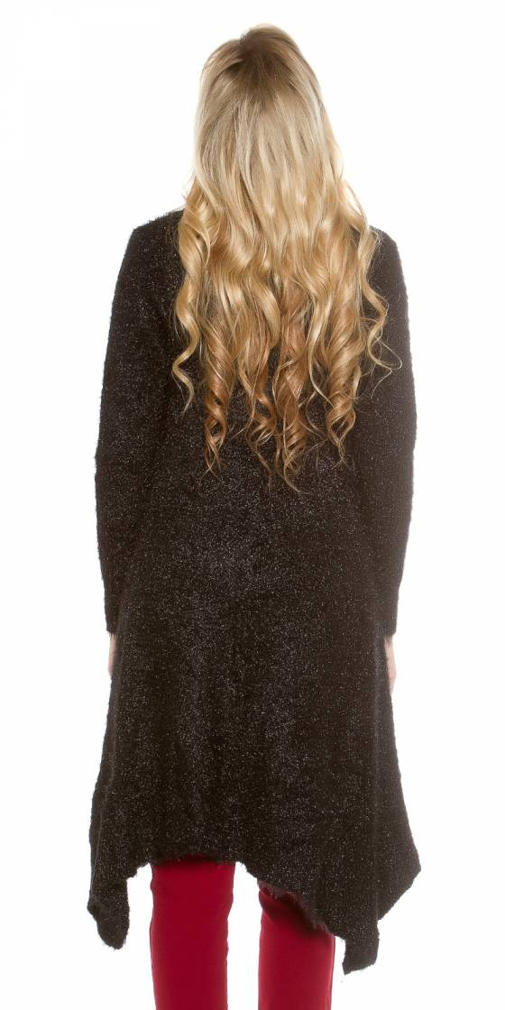 Trendy fluffy Long Cardigan