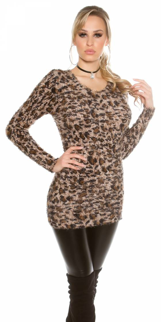 Trendy fluffy Longpulli...