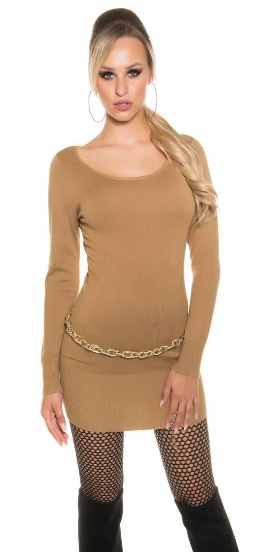 Long-pull femme tendance BIANCA couleur noir