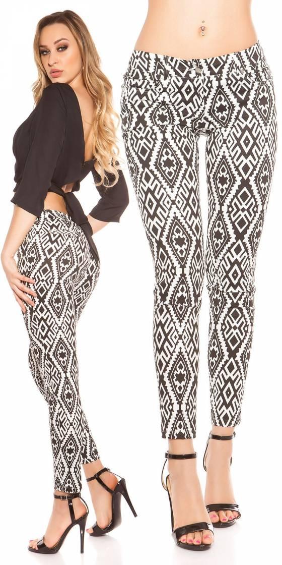 Pantalon sexy motif aztèque