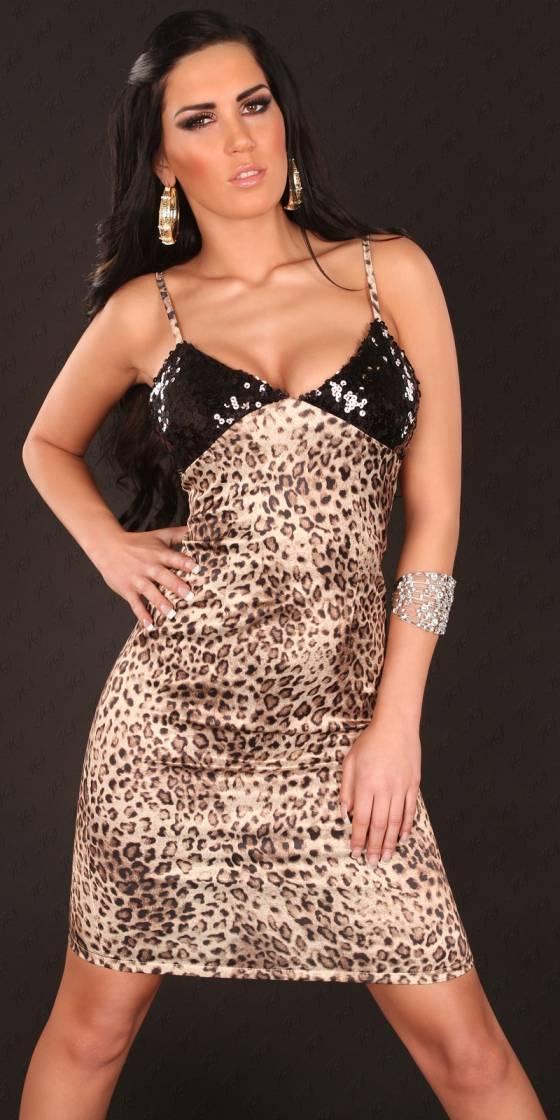 Body fashion tendance ROXANE couleur léopard/marron