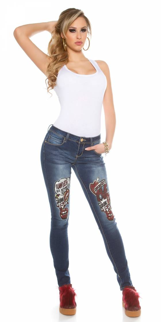 Jeans sexy avec impression...