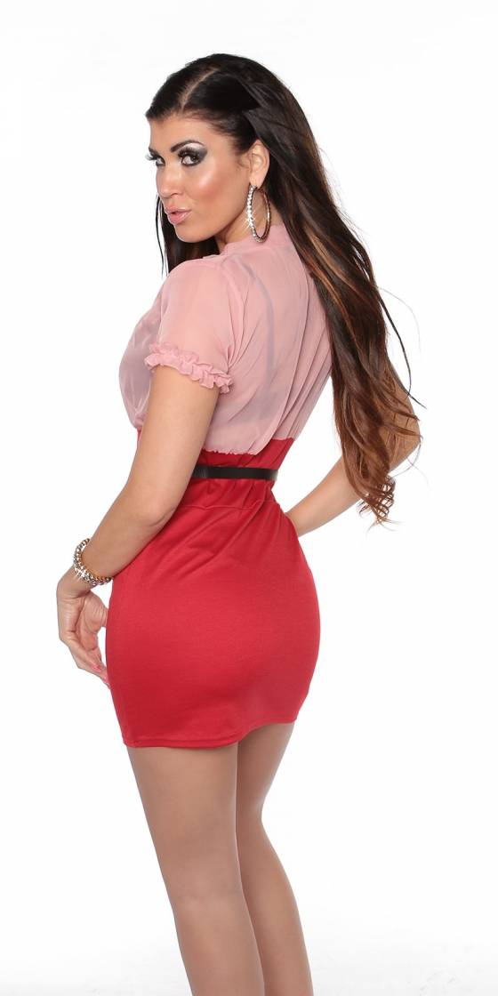Robe sexy glamour ABBYGAELLE couleur rouge