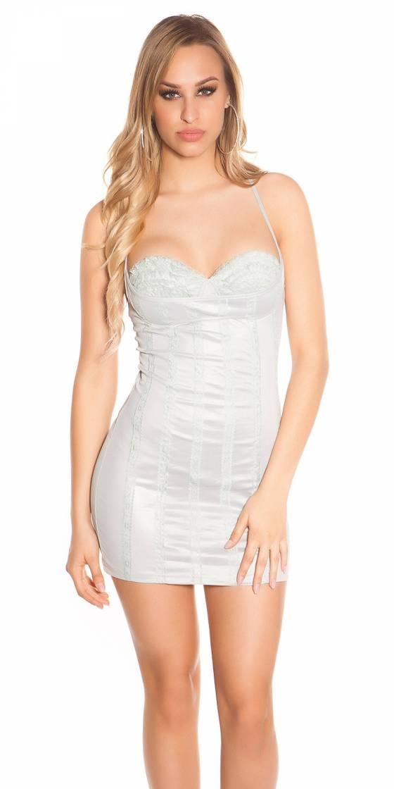 Robe fashion glamour ALEXANE couleur blanc