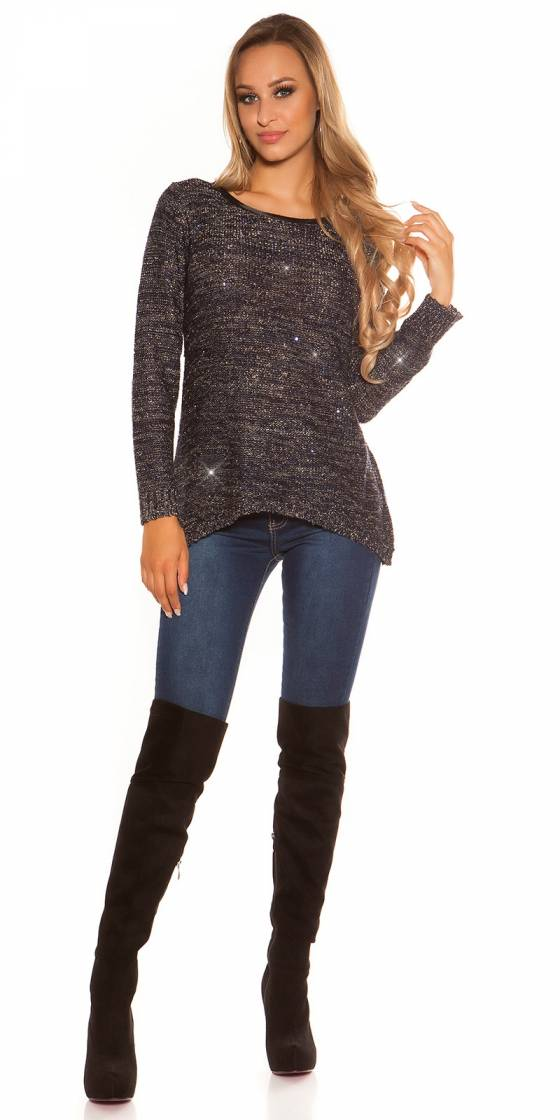 Trendy KouCla sequined sweater