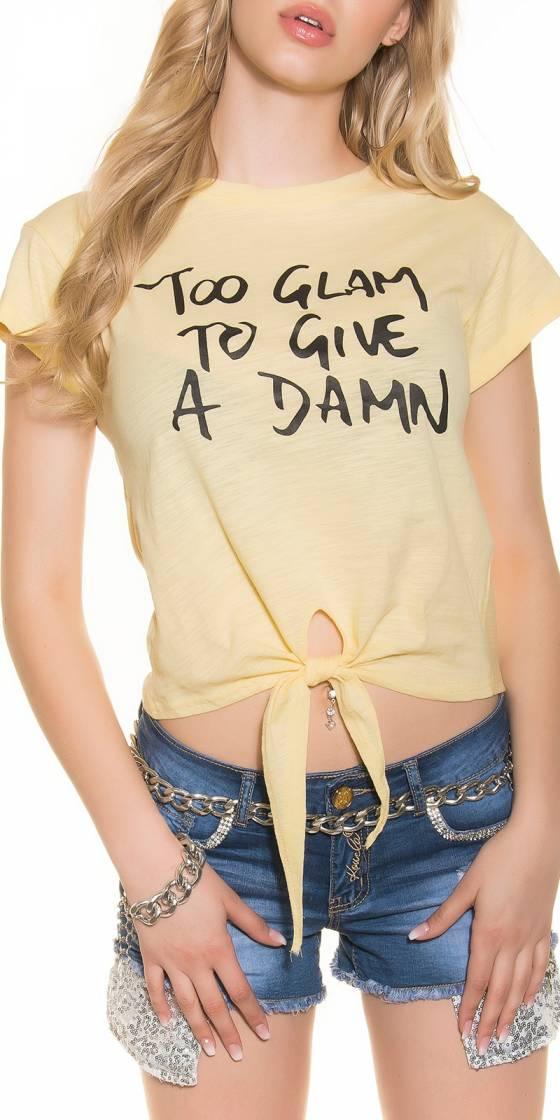 T-shirt tendance à nouer...
