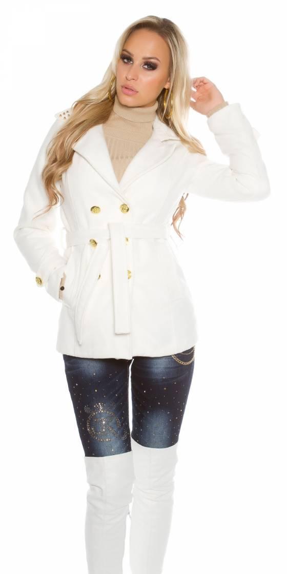 Trendy short coat with...