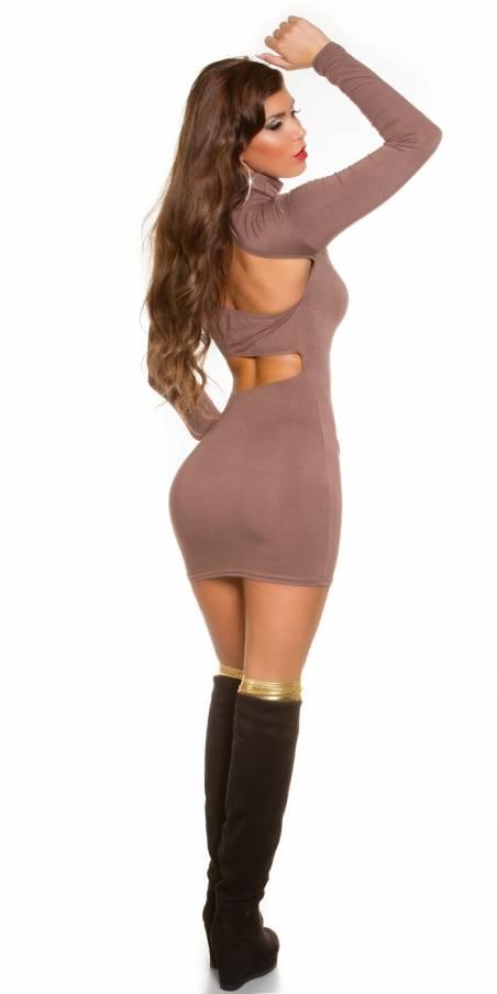 Leggings effet clouté fashion LAYANA couleur marron