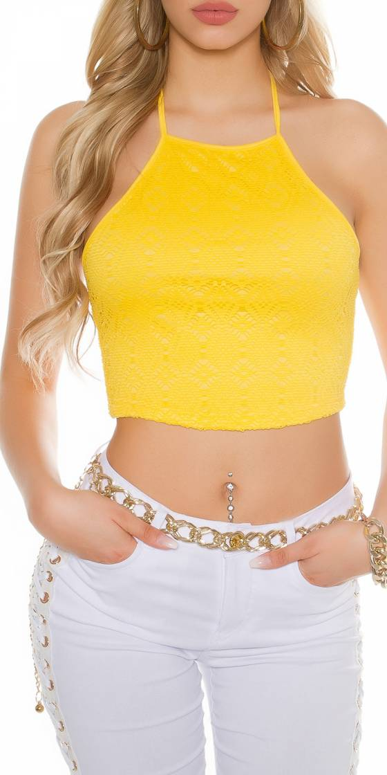 Sexy Crop-Top with crochet...