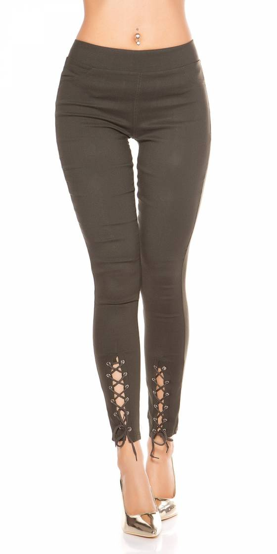 Sexy look leggings with lacing