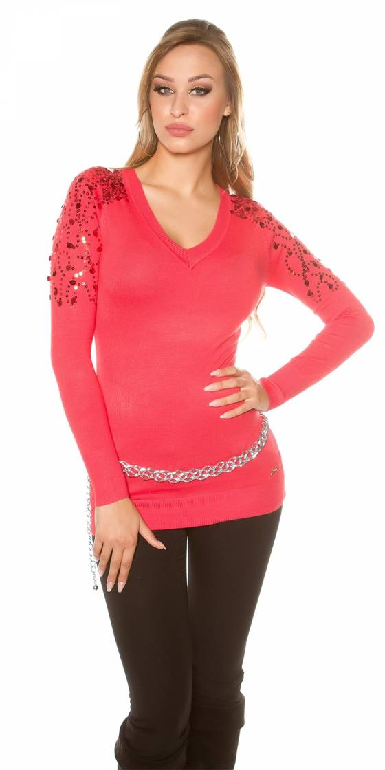 Pull long sexy avec sequin