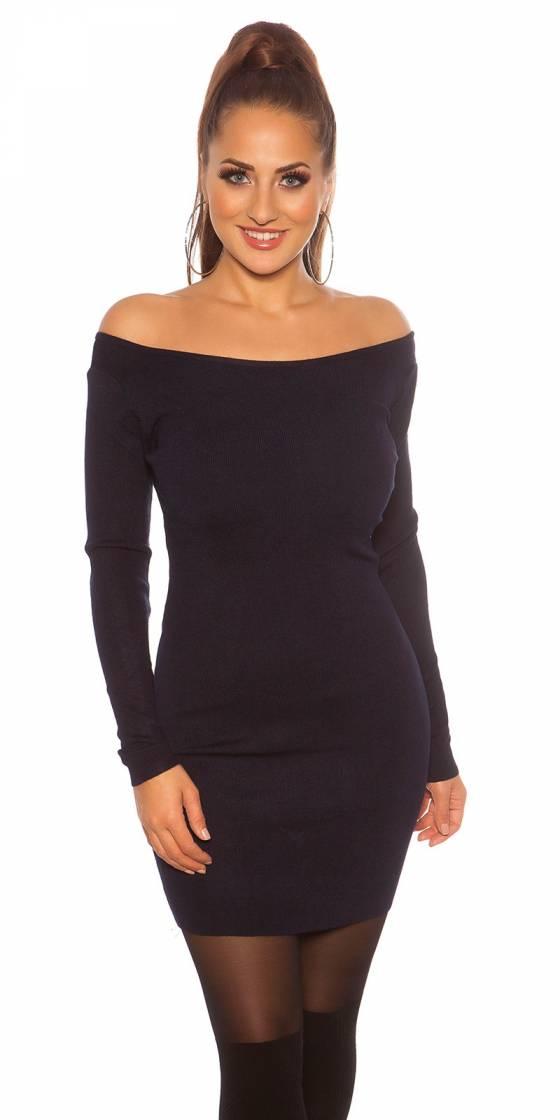 Mini robe sexy en tricot à...