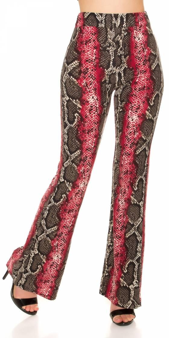 Pantalon sexy imprimé reptile