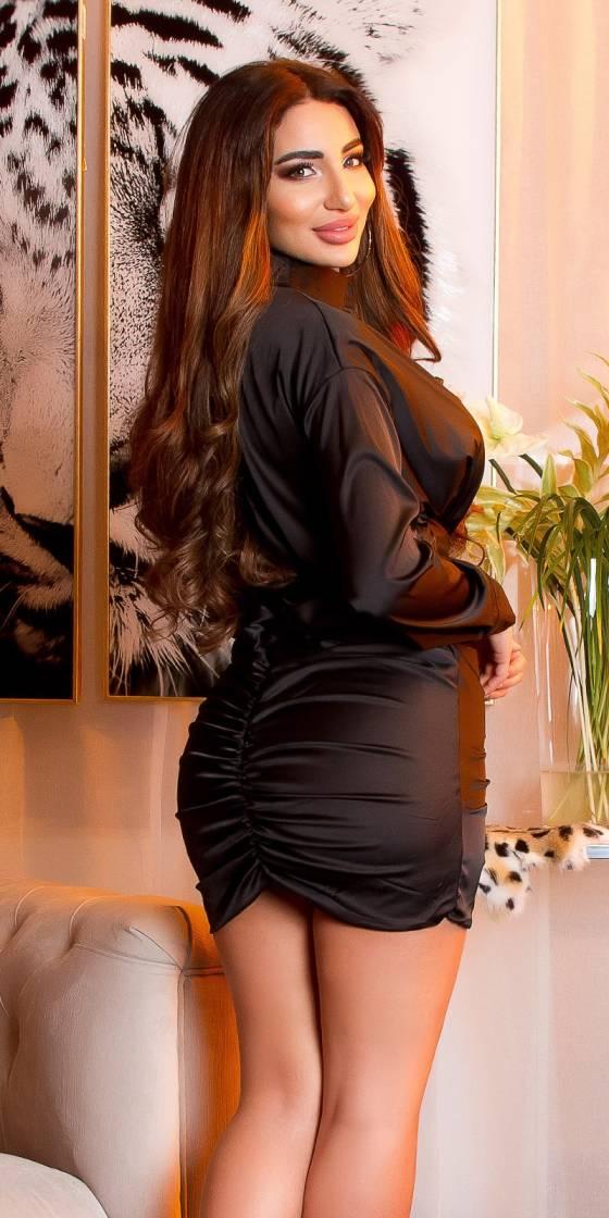 Sexy KouCla satin look mini...