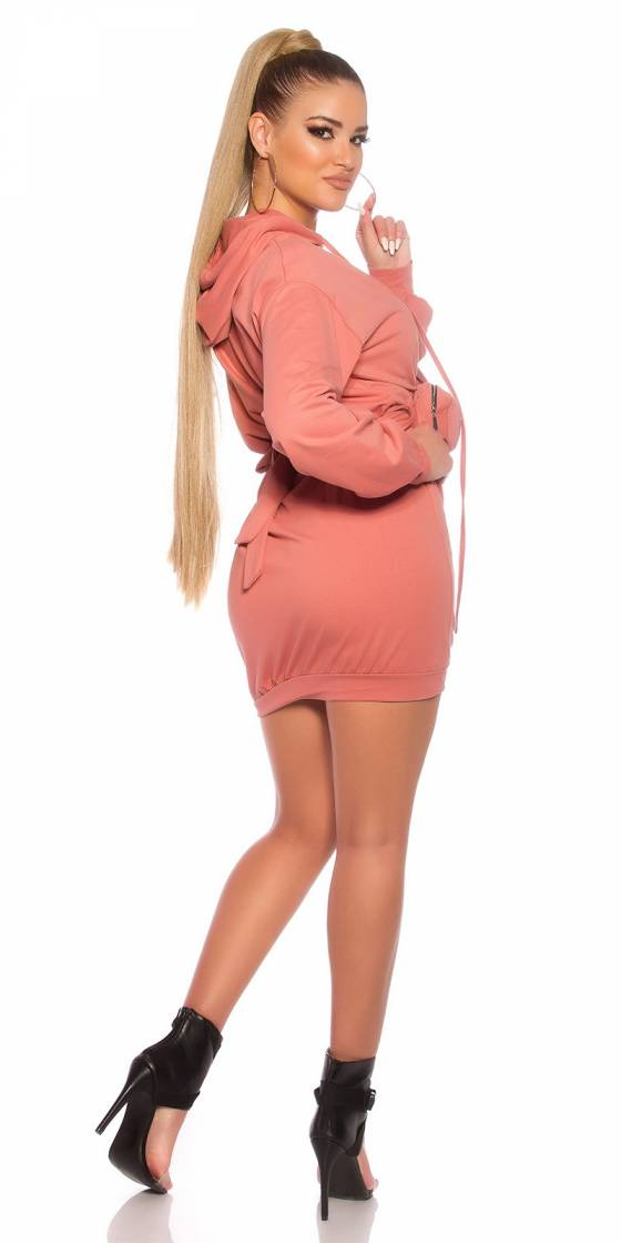 Robe-tunique sexy tendance CHARLENE couleur rouge