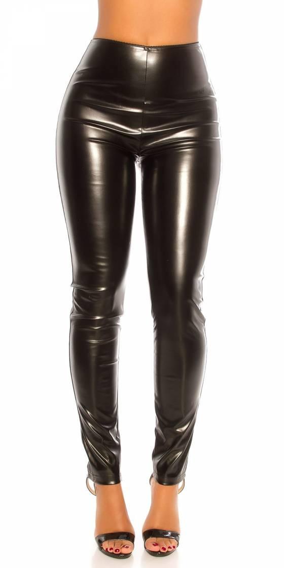 Pantalon sexy slim simili cuir