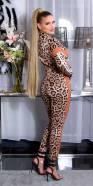 Combinaison sportswear imprimé léopard