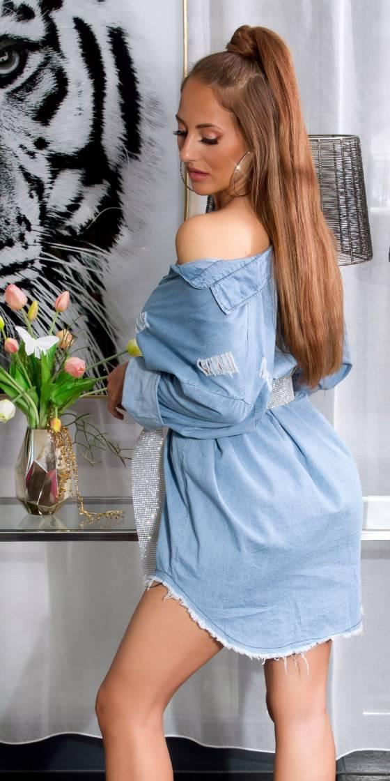 Sexy usedlook Jeansshirt/dress