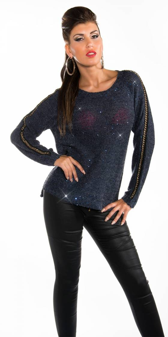 Top sexy glamour SHIMENE couleur gris