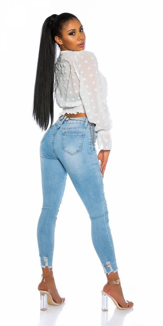Jeans sarouel fashion sexy LOLA couleur bleu