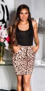 Sexy Highwaist Skirt with leoprint