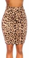 Jupe sexy taille haute imprimé léopard