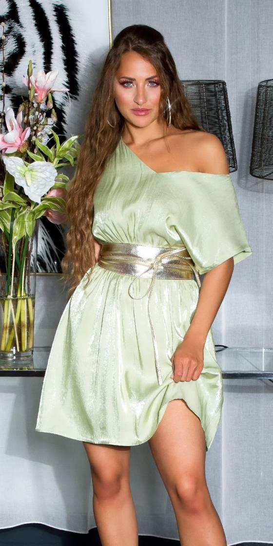 Shiny Minidress with sexy...