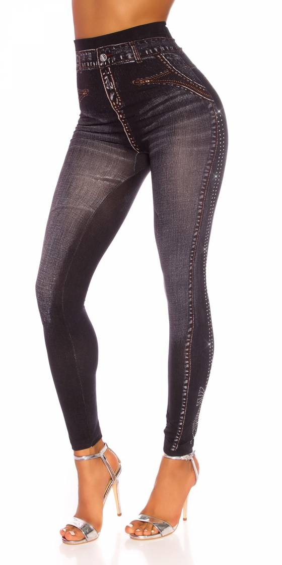 Legging sexy en jeans avec...