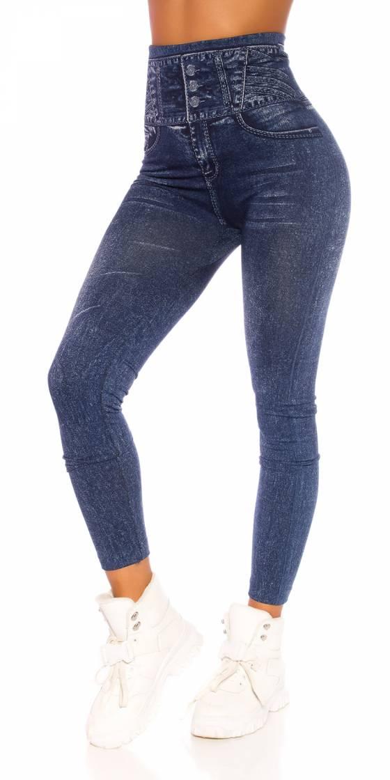 Leggings jeans tendance taille haute