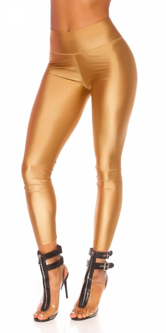 Sexy Metallic-Look Leggings