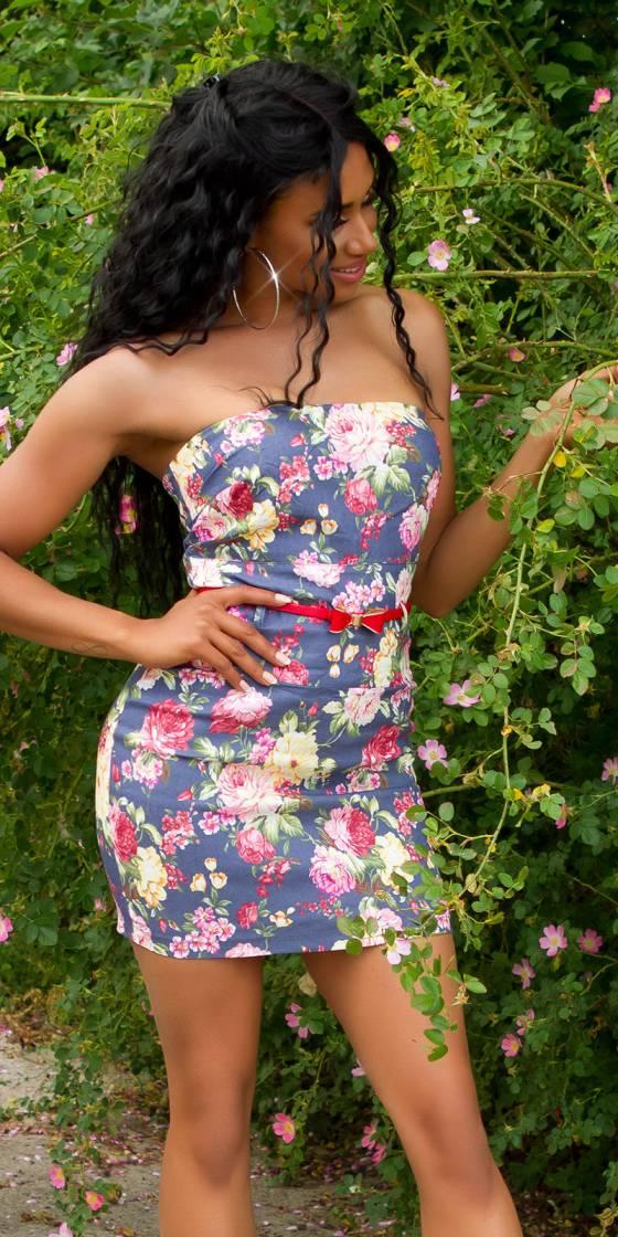 Robe sexy imprimé fleuri et...