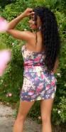 Robe sexy imprimé fleuri et ceinture
