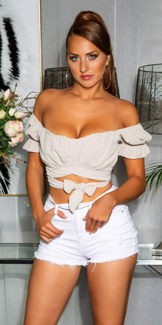 Sexy Off-Shoulder crop top...