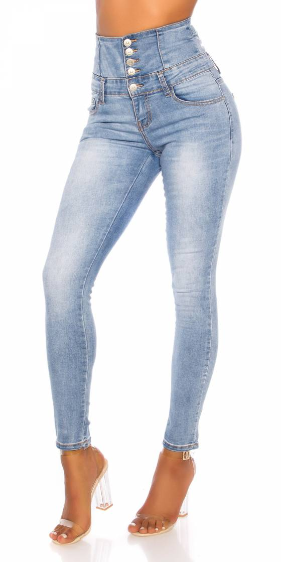 Jean sexy délavé taille...