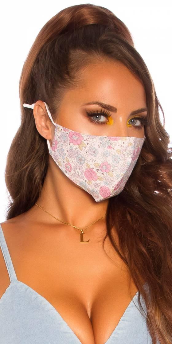 Masque lavable imprimé