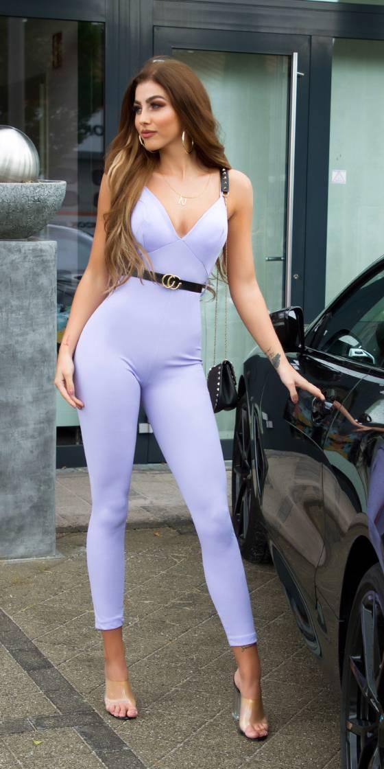 Salopette sexy avec ceinture