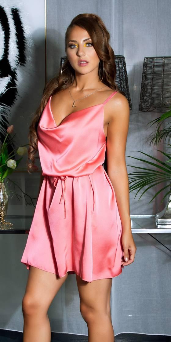 Mini robe sexy en satin...