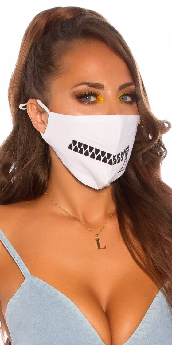 Trendy face mask with a zip...