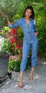 Salopette en Jeans tendance avec ceinture