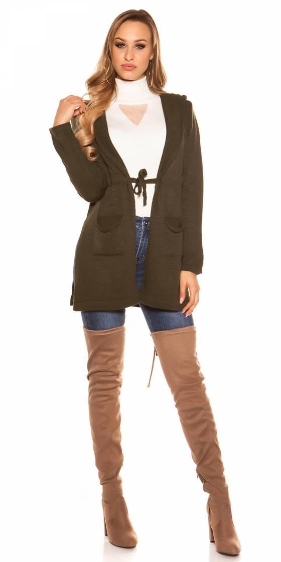 Trendy KouCla Hooded Cardigan