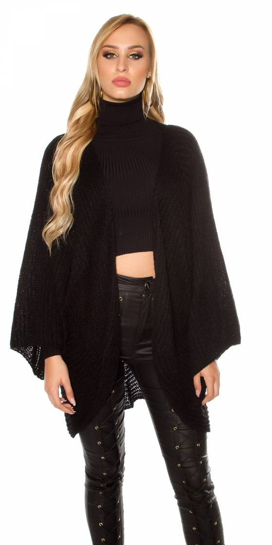 Trendy XXL loose knit jacket