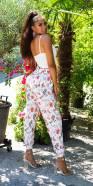 Pantalon fluide tendance imprimé fleuri