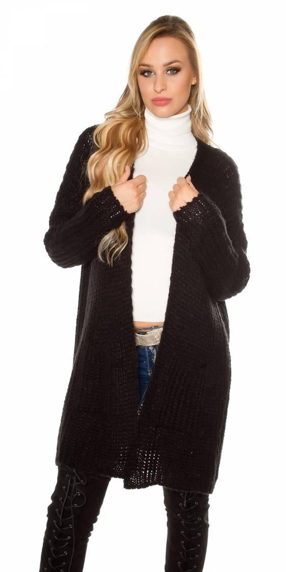 Trendy chunky knit cardigan