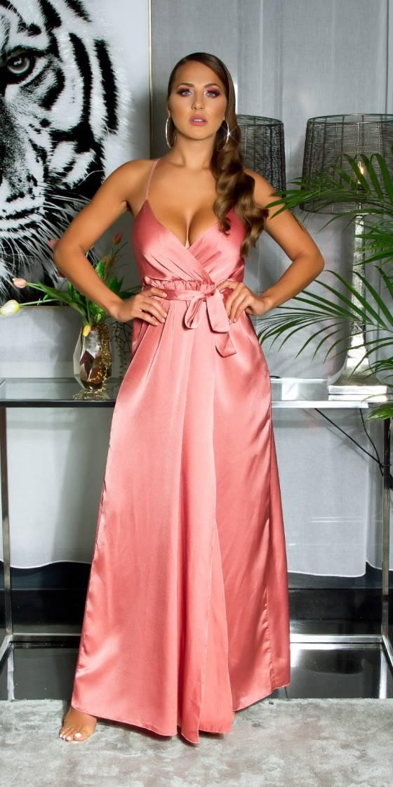 Sexy satin-look maxi dress...