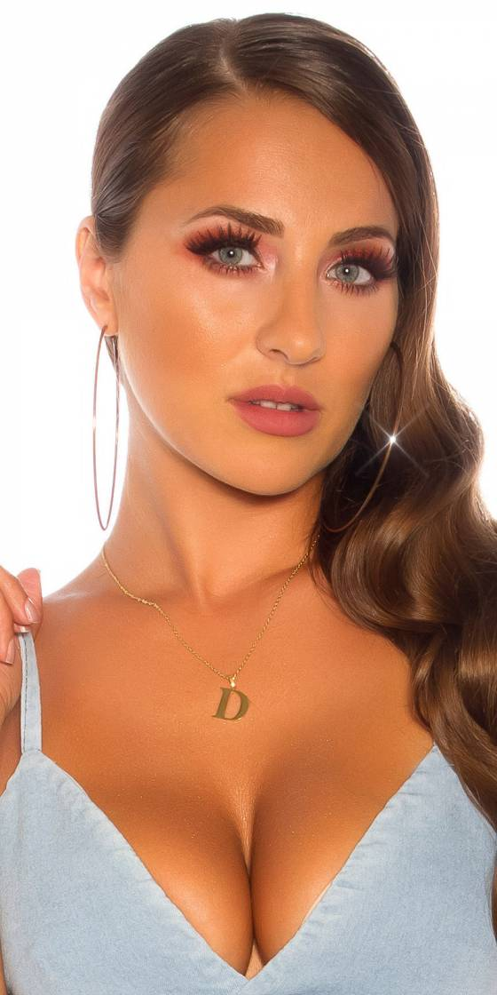 Sexy letter necklace  D