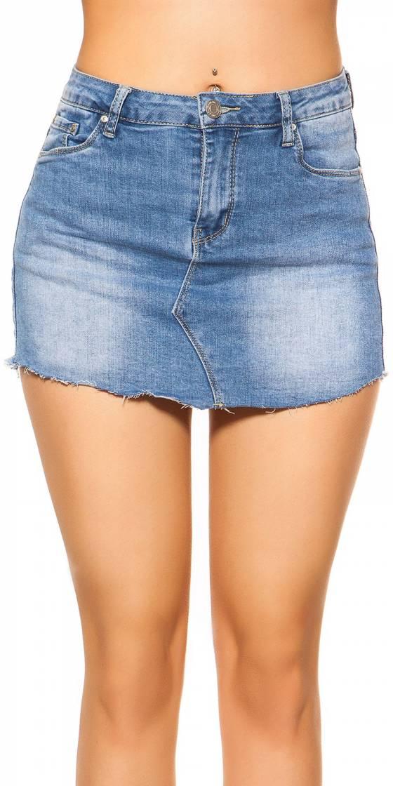 Short jupe en jeans sexy