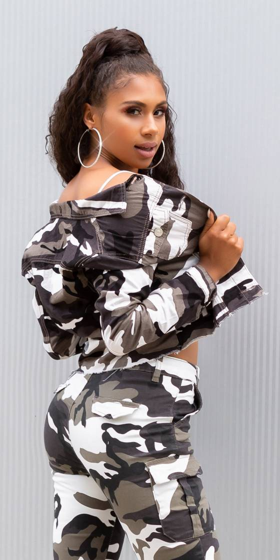 Sexy cropped military style...