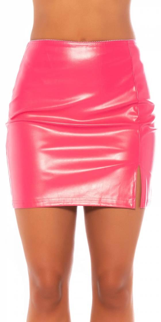 Sexy Koucla leather look skirt