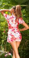 Sexy wrap look  minidress with flowerprint